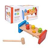 Goki- Puzzles de maderaPuzzles de maderaGOKIBanco de Martillo, Basic, Multicolor (Gollnest & Kiesel 58581.0)