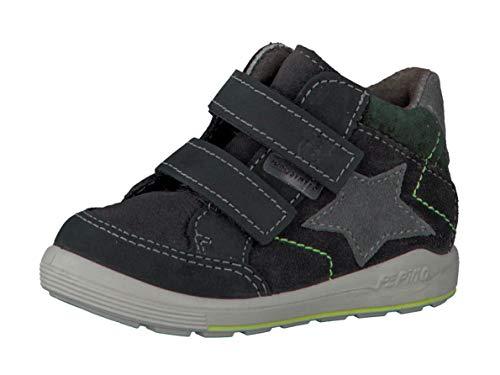 RICOSTA Pepino by garçon Bottes & Boots Kimi, Bottes pour Enfants, Gamin Bottes,Bottes Velcro,imperméables à l'eau,Asphalt,24 EU / 7 UK