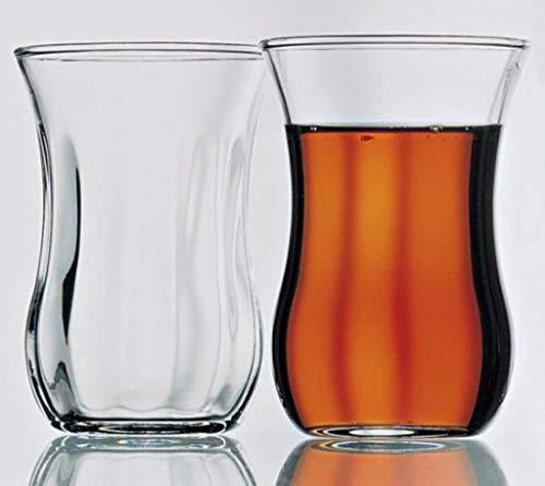 12 vasos de té turcos Pasabahce 115 cl