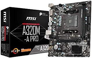 MSI A320M-A PRO AM4 DDR4 3200(OC) DVI HDMI USB3.2 mATX Anakart