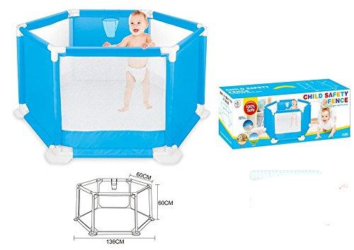MONEYY 136Cm Les Enfants Tirant Coulisseau De Sécurité Intérieure Et Extérieure Du Tube Pvc Pliable Portable Jouet Puzzle Game House Fence