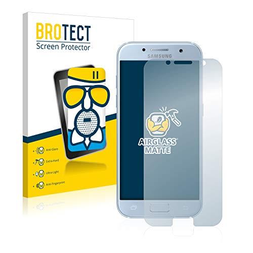 BROTECT Protector Pantalla Cristal Mate Compatible con Samsung Galaxy A5 2017 Protector Pantalla Anti-Reflejos Vidrio, AirGlass