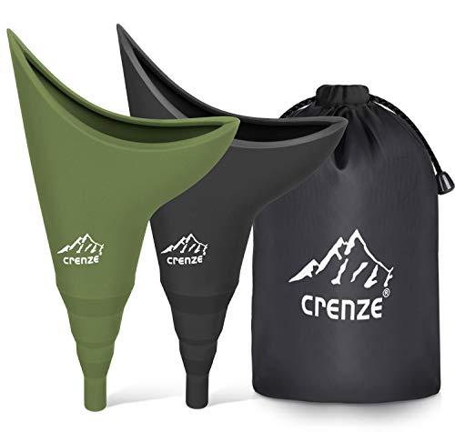 Besrina Frauenurinal,Urinella Lassen Frauen im Stehen Pinkeln,Silikon Pinkelhilfe für Frauen Wandern,Camping,Reisen (2 Pack)