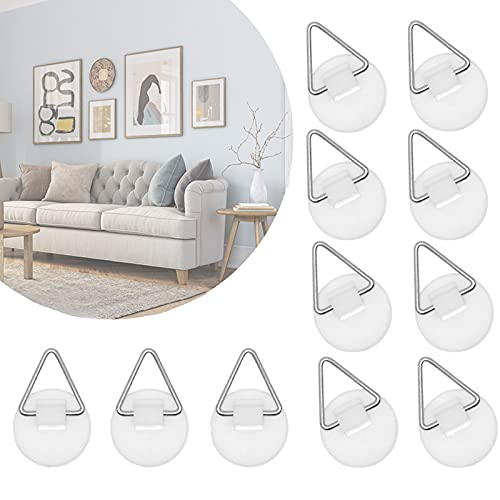 40Pack Sticky Hooks, Plastic Adhesive Picture Hangers without Nails, Stick on Wall Hooks Wall Sticky Hangers without Nails for Hanging Plate Photo Wall Art Decoration, Art Decor Supplies (White)