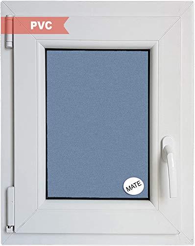 Ventanastock Ventana PVC Practicable Oscilobatiente Izquierda 1 hoja con vidrio Carglass (Climalit Mate), blanco, 50cm x 70cm