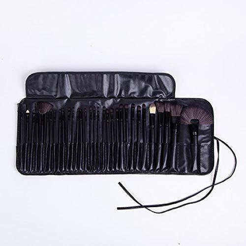 Ensemble De Pinceaux De Maquillage Professionnel, Combinaison D'Outils De Maquillage, Maquillage De Pinceau À Paupières, 32 Packs Noirs D