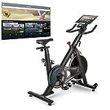 CAPITAL SPORTS Evo Race Indoor Bike Cardiobike Heimtrainer,Kinomap-App-Unterstützung via Bluetooth-Pulsgurt,Schwungmasse: 22 kg,MagResist System: stufenloser Magnet-Widerstand, taupe