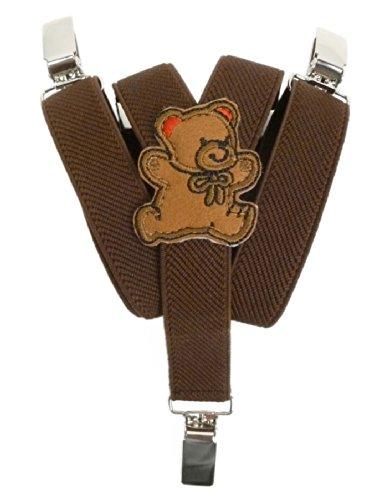 Elastische bretels met clips voor baby`s/jonge kinderen met een tekening van een knuffelbeer