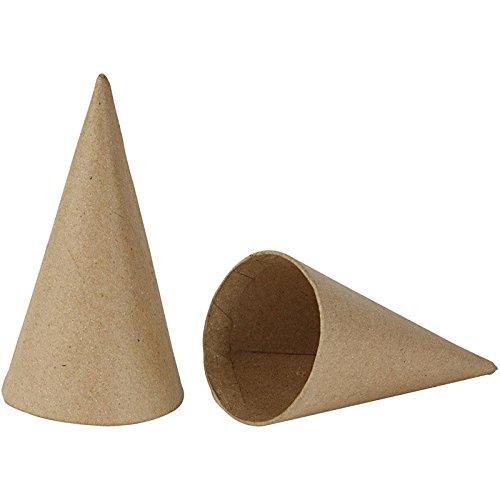 Creativ Company Zapfen, 10 Stück, H: 14 cm, D: 7 cm, beige