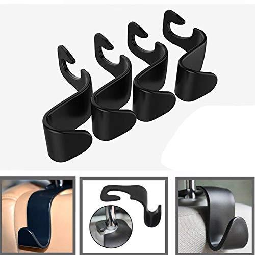 Dandeliondeme Universal-Haken für Autositz, Kopfstützenhalter, Auto-Zubehör für Küche, Badezimmer, Wand, Schränke, schwarz