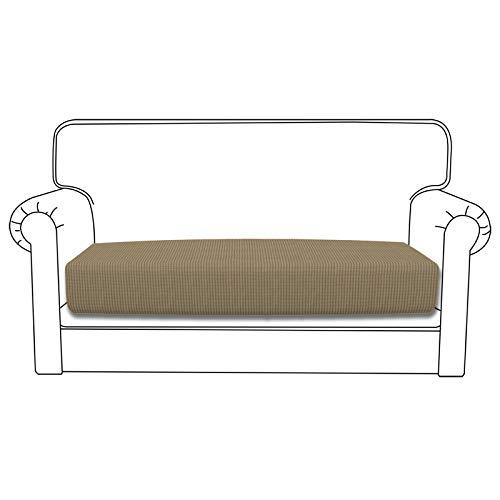 Easy-Going Funda de cojín elástica para sofá, funda de sofá, funda de sofá, suave y flexible con parte inferior elástica, cojín de color marrón