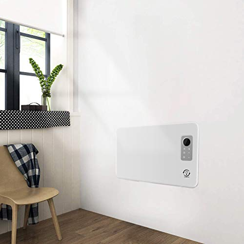 1200W Slim Electric Wall Mounted Convector Panel Heater Radiator,Floor Free Standing,7-Day Timer & Advanced Thermostat ,Remote Control,IP24 Rated Bathroom Safe,Energy Efficient Convector Heaters