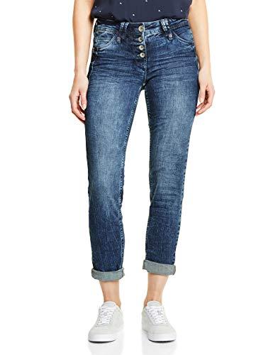 Cecil Damen Scarlett Jeans, Blau (Mid Blue Wash 10281), 28W / 32L