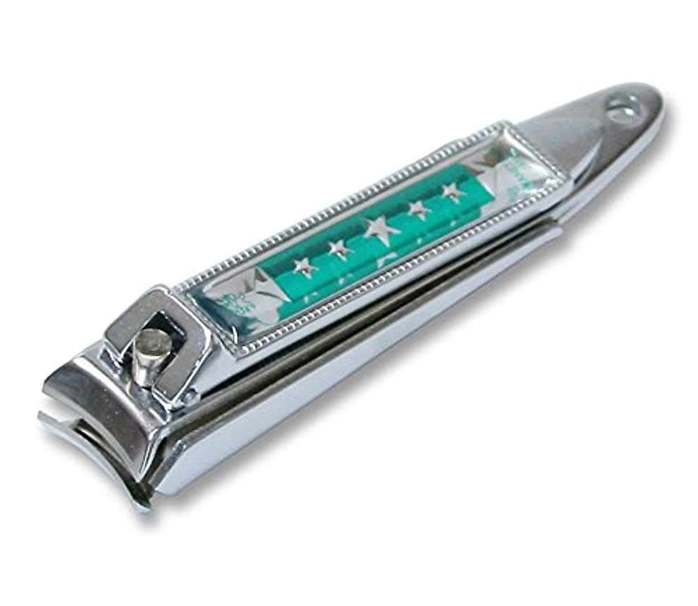 空港お祝いジャケットKC-051GR 関の刃物 関兼常 チラーヌ爪切 中 緑