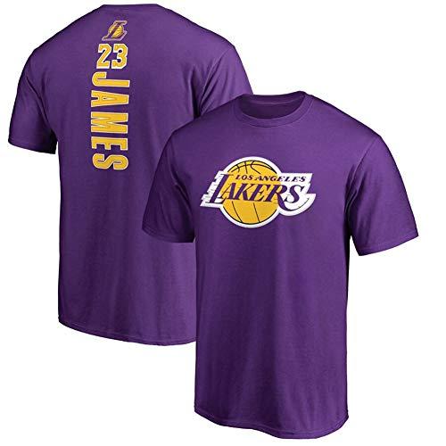 LXIN Lakers James Lebron James 23 Camiseta Manga Corta Camiseta de Baloncesto,Purple,S
