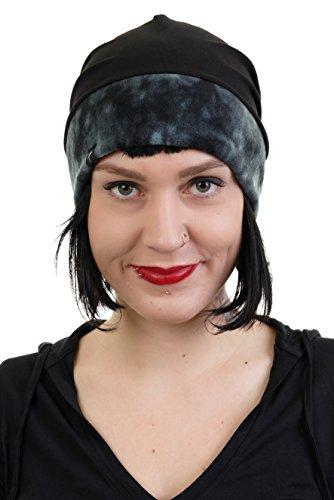 3Elfen Berretto Jersey vello Beanie Inverno Hat Maglia Beanie Cappello sciare Berretti diversi colori - de Donna bambina - nero batik