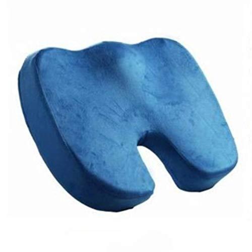 QZ Büro U-förmige Gesäß Schwangere Frauen Butt Kissen Slow Rebound Stuhl Auto Memory Foam Kissen Für Autositz Sofakissen Geeignet (Farbe : Blau)