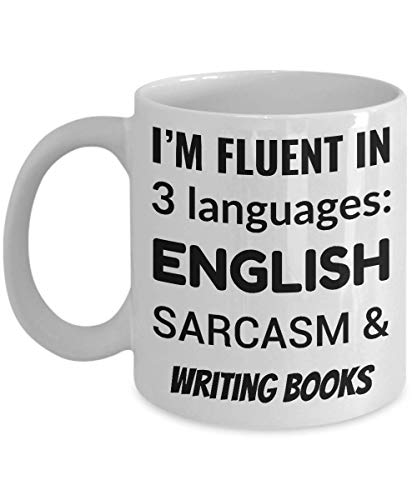 Not Applicable Autor kaffeetasse - ich spreche fließend 3 sprachen - englisch Sarkasmus und bücher schreiben
