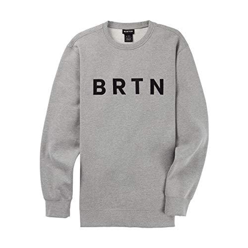 Burton Brtn, Felpa Uomo, Gray Heather, S