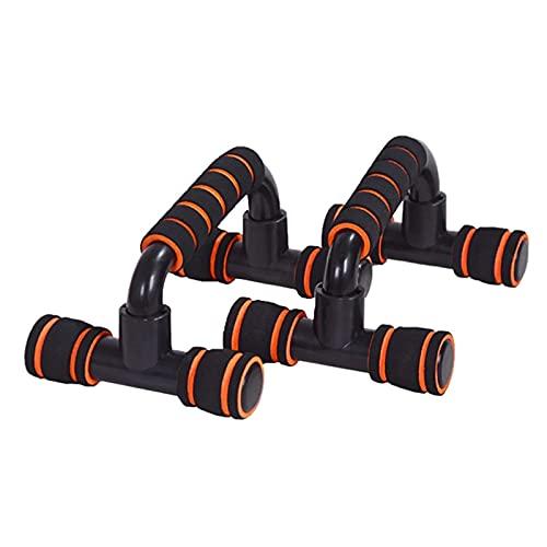 Conjunto De Barra De Push-up Push-ups Stands Gym Sports Fitness Equipos H-Forma Push Up Bar Grip Mano Dispositivo de Entrenamiento Muscular (Color : Orange, Size : One Size)