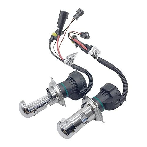 RH-HPC Faros LED Bombillas de la luz del Coche HID HID Xenon Kit HI/Lover 12V 55W Faro HID Xenon Kit Lámpara Faro de la lámpara XEON H4 4300K6000K 8000K BI-Xenon Bulbo Llevado