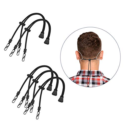 Mask Extender Strap Adjustable Ear Saver Rope Anti-Tightening and Anti-Slip with Hook and Adjustable Buckle for Adult, Child (5 pcs)