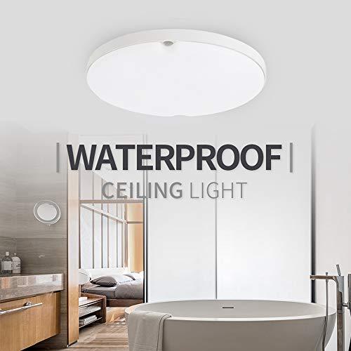FSBMIN LED Deckenleuchte Spritzwasser geschützt IP65 inkl. 10W 1000lm LED Platine 6500K neutralweiss 14cm Durchmesser für Badezimmer Wohnzimmer Kinderzimmer Küche Balkon Flur