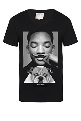 Eleven Paris - Camiseta de Manga Corta Will Smith, niña, Negro, 6 años
