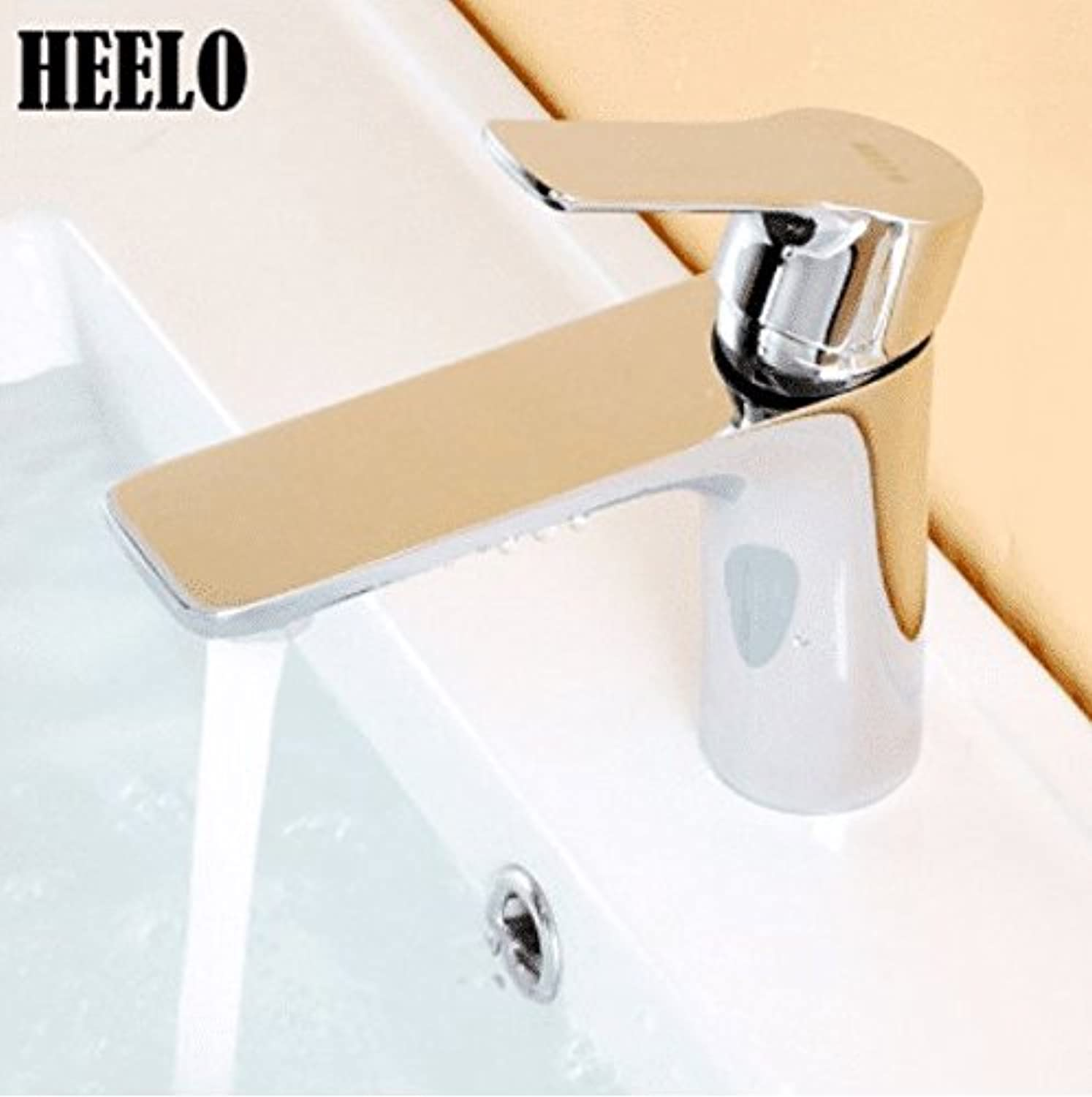 AQMMi Bathroom Vanity Sink Faucet Single Lever Brass Hot and Cold Water Bathroom Basin Sink Tap Bathroom Faucet