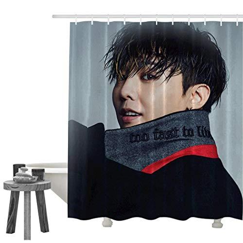 G-D-ragon Duschvorhang, Polyester, bedruckt, wasserdicht, weiß, 70 X 84 Inch