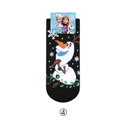 MIWNXM 10 Paar eFrozen Cartoon Socks Frozen Anna/Olaf Socks Bright Shiny Ladies Socks Gift