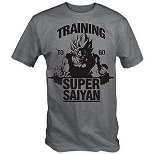 Training To Go Super Saiyan T Shirt (Grey , Medium)