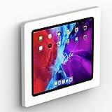 VidaMount White Enclosure and Fixed VESA Slim Wall Mount [Bundle] Compatible with iPad Pro 12.9' (4th & 5th Gen)