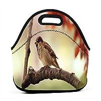 37688 Bird 保温再利用可能おポータブル弁当箱ランチトートバッグ食事袋子供大人ユニセックス