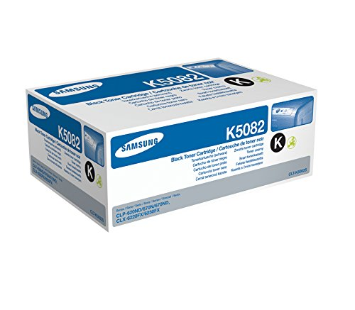 Samsung CLT-K5082S/ELS Original Toner (Kompatibel mit: CLP-620/CLP-670/CLX-6220/CLX-6250 Series) schwarz