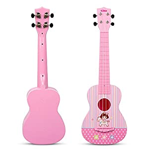 JINRUCHE Guitarra Ukelele, 23 Pulgadas de Arranque de Nylon de ...