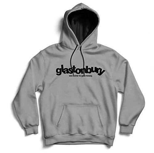 We Come to Get Messy Festival Glastonbury Street Hoody MP3-Kopfhörer Loops Hoodie Gr. XL, grau