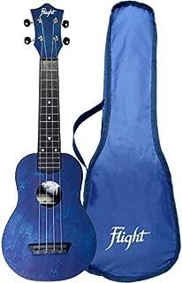 Flight, 4-String Travel Series Soprano Ukulele, Dark Blue (TUS-35DB)
