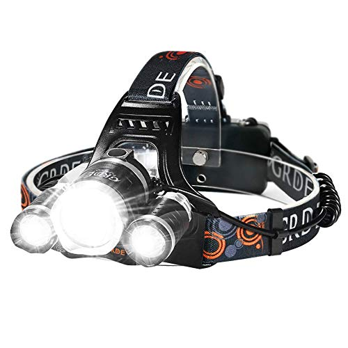 LED Headlamp, 6000 Lumens Max 4 Modes Waterproof...