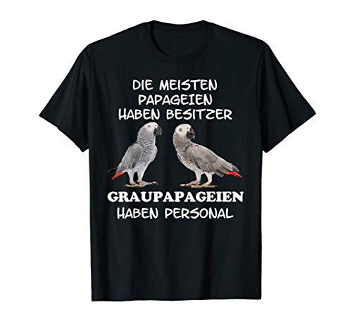 Graupapagei Papagei Sittich Vogel T-Shirt Damen Herren