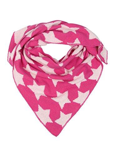 Cashmere Dreams Dreieckstuch mit Kaschmir - Hochwertiger Schal mit Sternen für Baby-s Jungen und Mädchen - XXL Hals-Tuch und Damen - Strick-Waren für Sommer und Winter Zwillingsherz - pink