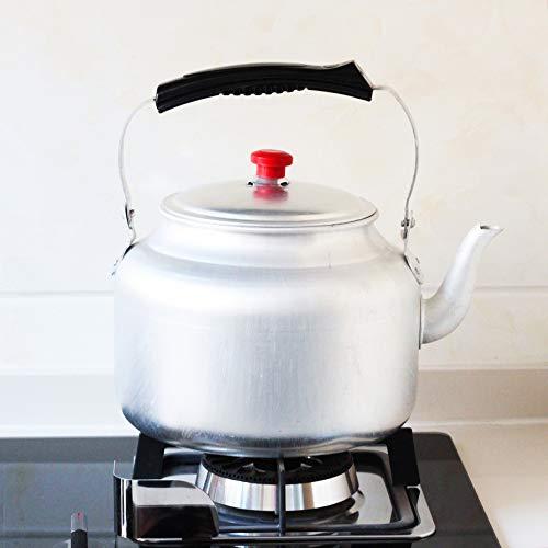 Tradicional Viejo Engrosamiento de Aluminio Puro hervidor de Agua Estufa de carbón Estufa hogar al Aire Libre Tetera cafetera Tetera 5L