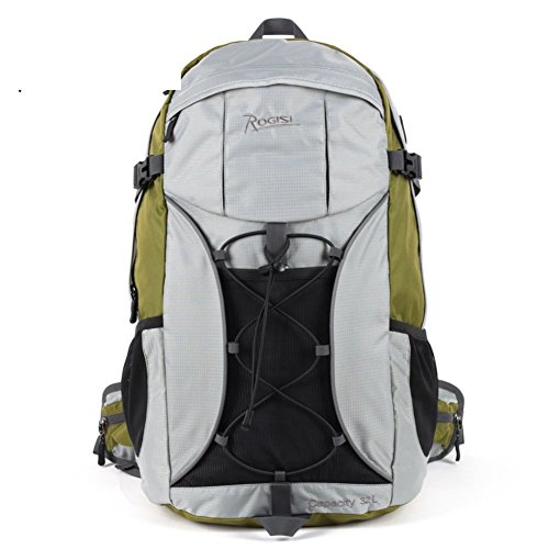 Backpack éclairage extérieur Sac de randonnée imperméable/32L Sac à Dos de randonnée Riding-Grass Vert 32L