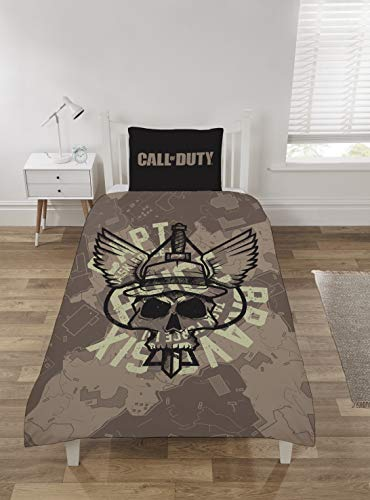 Coco Moon Cod Call Of Duty Playstation - Juego de cama para cama individual o doble, diseño de Call of Duty, edredón para cama individual