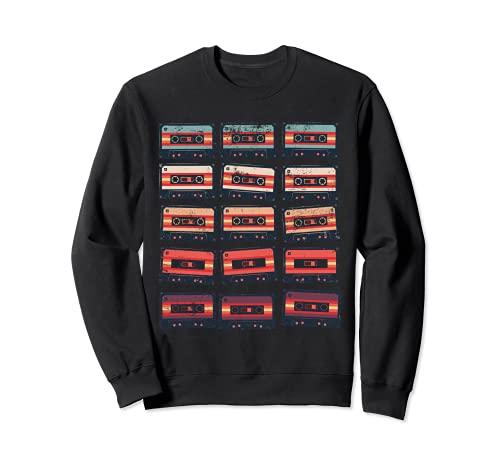 Music Cassette Tapes Old School Mens Womens Kids Sweatshirt