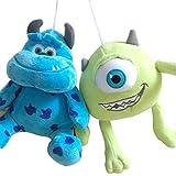 zjq Jouets en Peluche2pcs/set Funny Mike Wazowski+James P. Sullivan Plush Toy for Kids Gift20cm