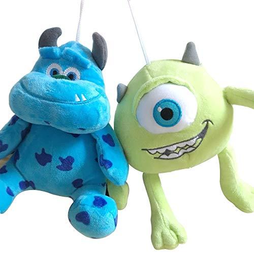 zjq Juguete de Peluche 2pcs/Set Funny Mike Wazowski+James P. Sullivan Plush Toy For Kids Gift20cm