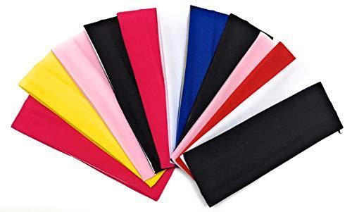 Fasce Per Capelli Donna Ragazza 12 PEZZI Larghe Grandi Elastiche Estive Ideali Per Fitness Yoga Mare Trucco Multiutilizzo Comode E Colorate Ultima Generazione (Multicolore)