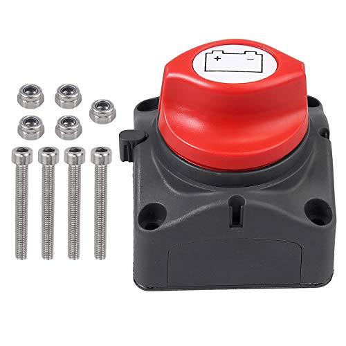 Proster Batterie-Trennschalter 12V/24V/48V 350A Abnehmbarer Knopf Batterieabschaltung Batterietrennschalter für Auto LKW Boot Van Wohnwagen Automobilelektronik Elektrische Produkte