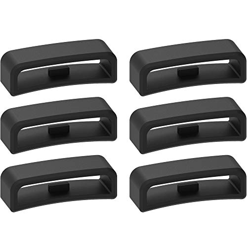 28mm Width Band Keeper Compatible with Garmin Vivoactive HR/Forerunner 910XT Fastener Loops Replacement Band Holder Compatible with Fitbit Surge Bands, 6 Pack.